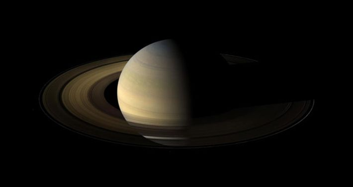 The Cassini spacecraft snapped this shot of Saturn a day and a half after its equinox. ...