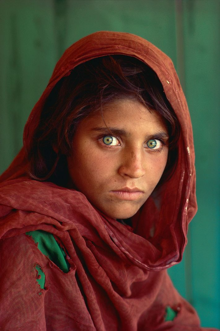 This portrait of Sharbat Gula, an Afghan refugee with haunted eyes, ran on the cover of ...