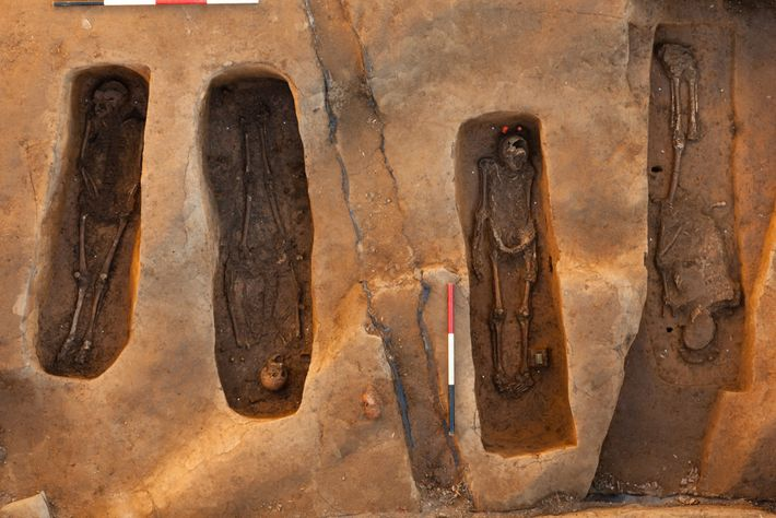 Archaeologists discovered the four graves in the chancel of Jamestown's church—the area traditionally reserved for the ...