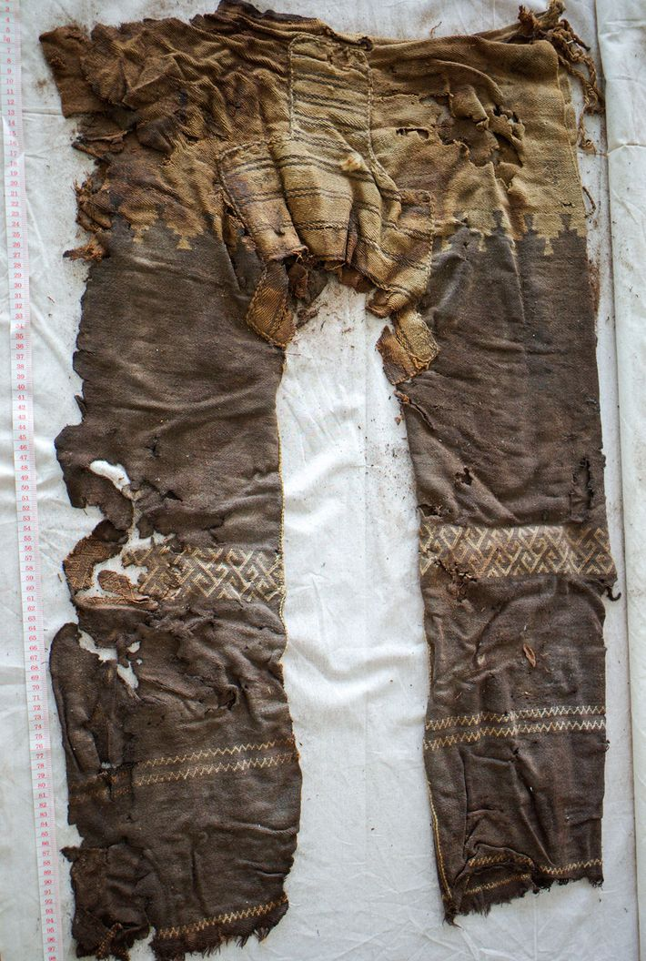 The woollen trousers are another record-setter: the world's oldest known trousers. They were found in the ...