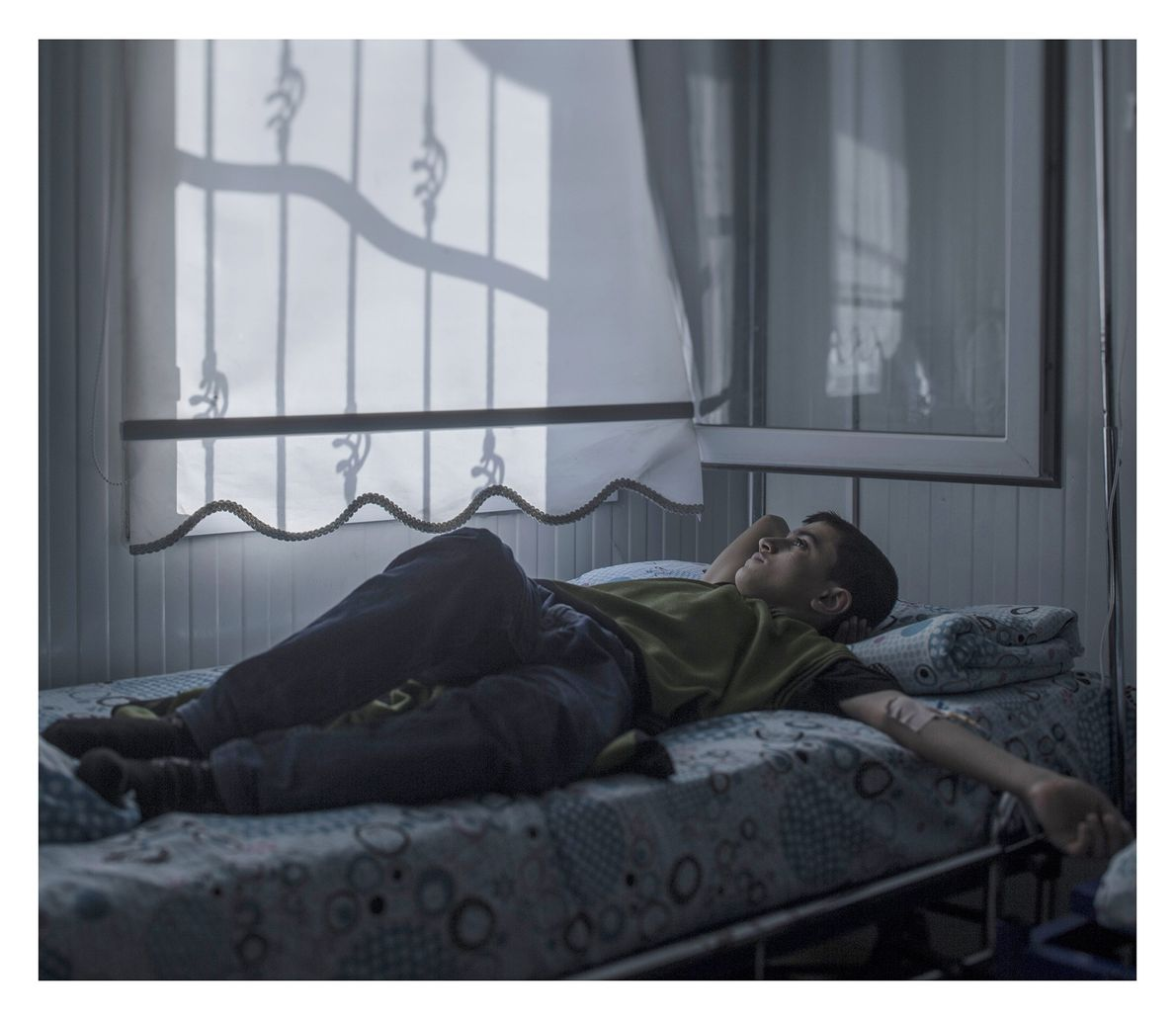 Mohammed, age 13, still dreams of becoming an architect, even while lying in a hospital bed. ...