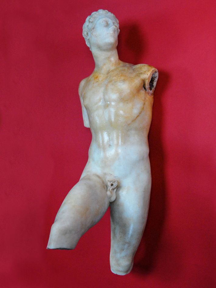 After 14 years of fruitless digging, Papakosta unearthed this early Hellenistic marble statue of Alexander the ...