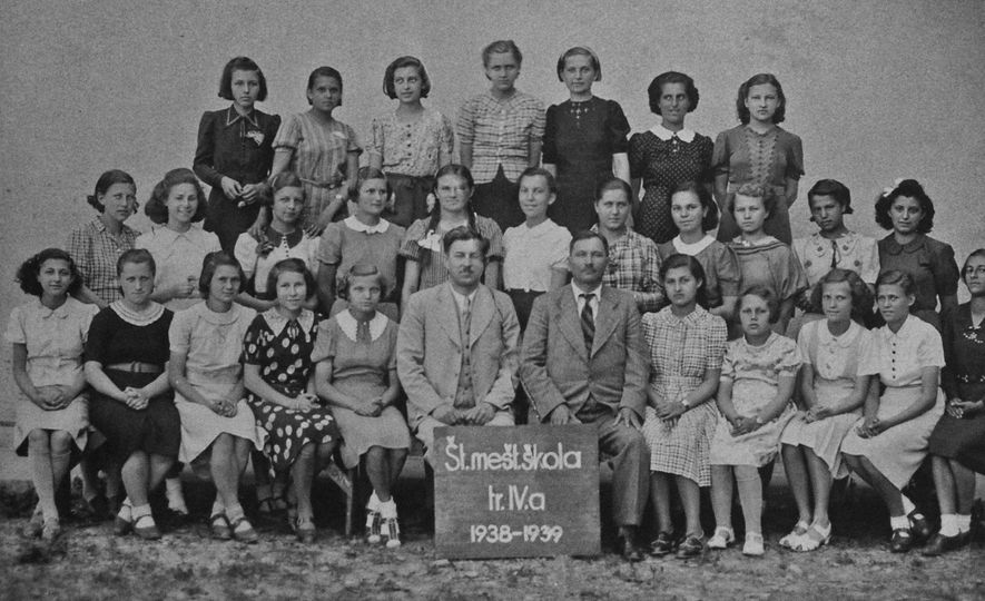 Of the nine Jewish girls in this class photo at their school in Humenné, only three ...
