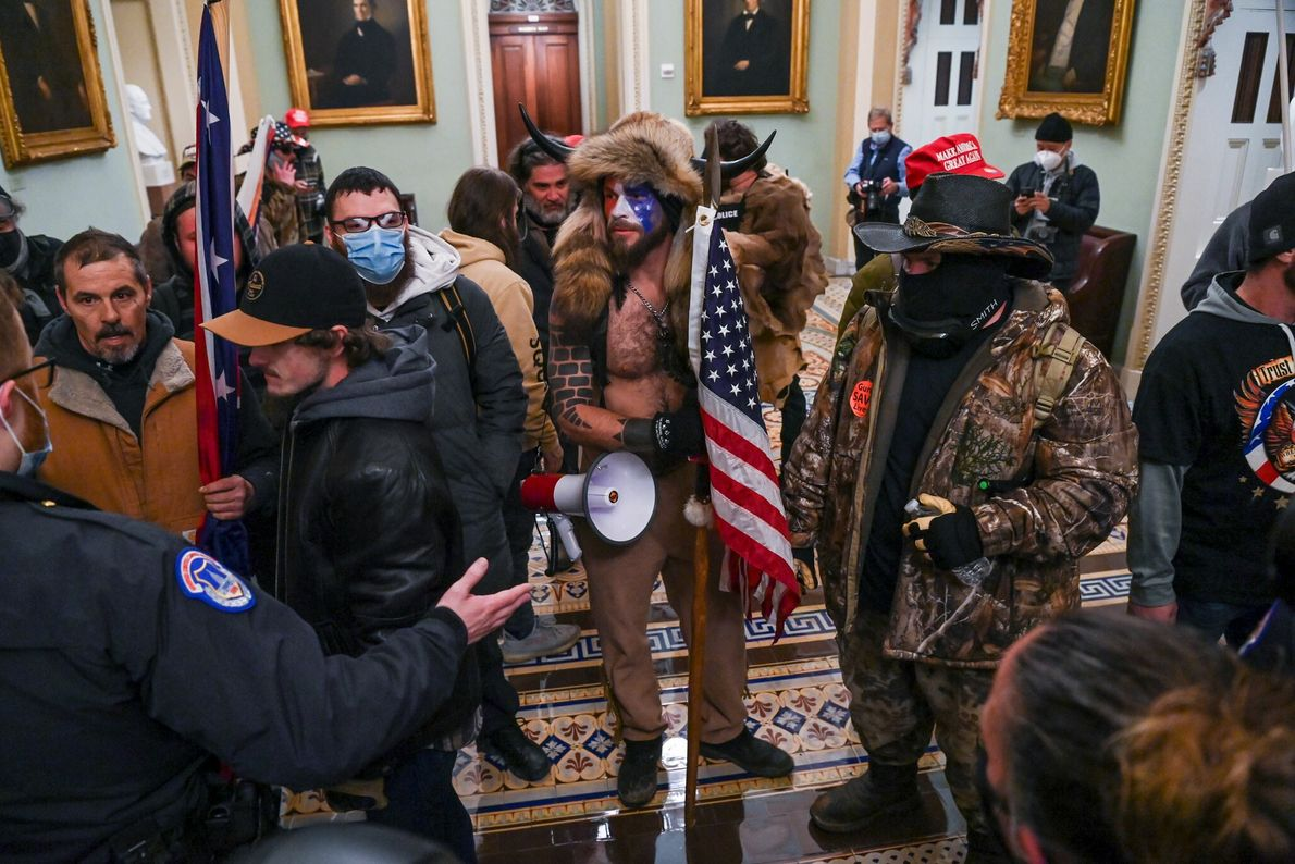 Trump supporters forced their way past barricades and entered the Senate chamber and offices of lawmakers. ...