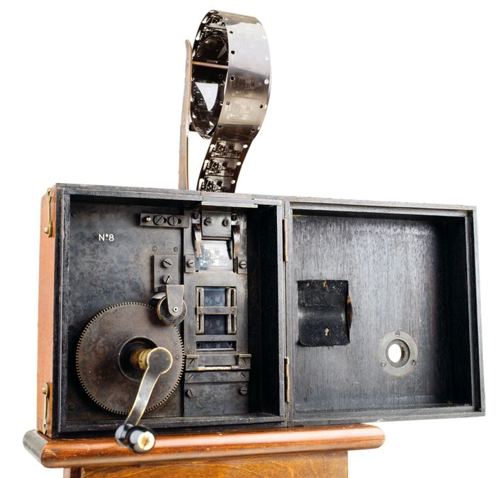 Cinématograph patented by the Lumière brothers in 1895