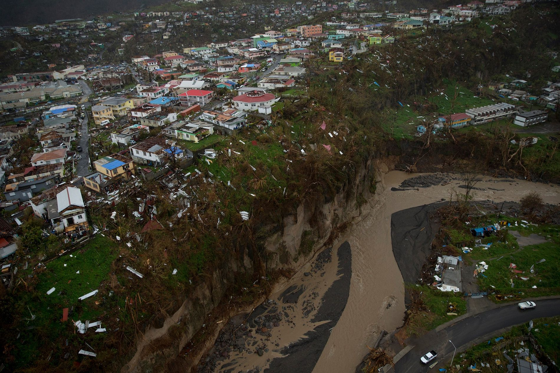 Ten days after Hurricane Maria struck Dominica, aerial photos showed devastation so complete, it was routinely ...