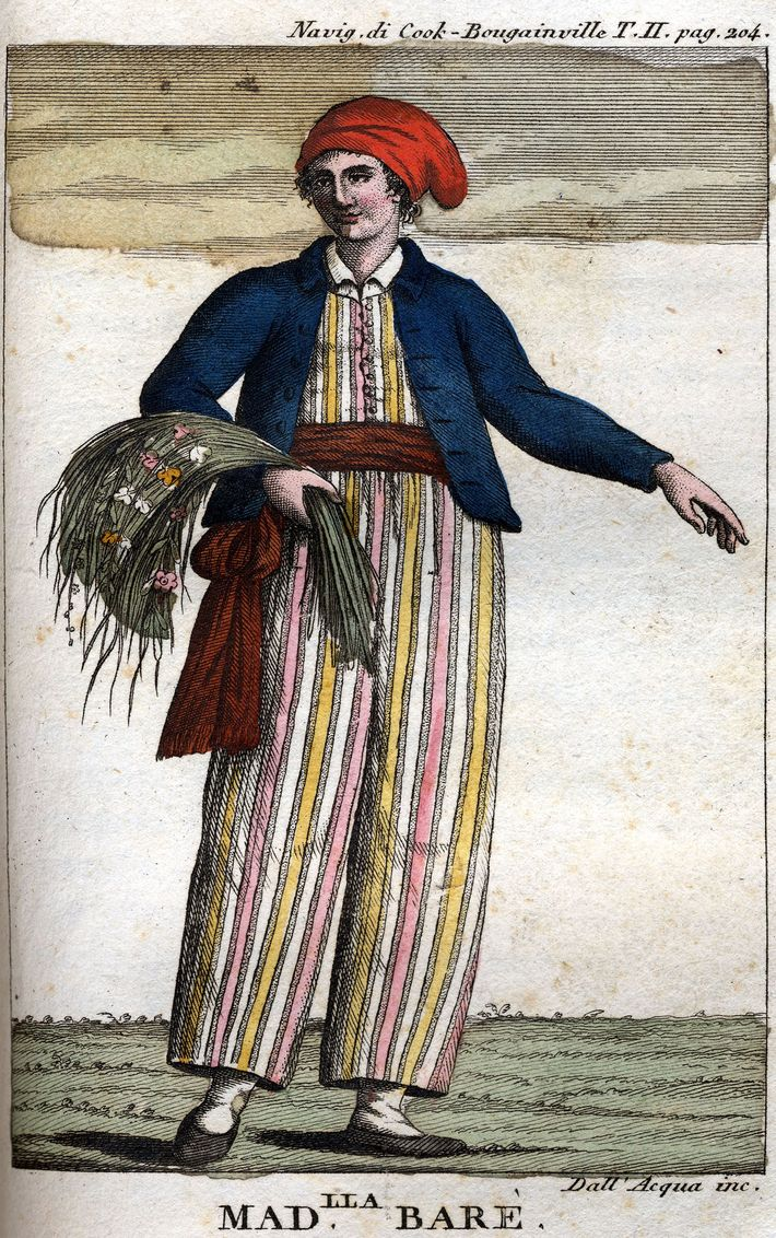 Portrait of Jeanne Baret, French adventuress