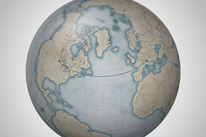 Many people think of Europe as sitting directly across the Atlantic Ocean from the United States, ...