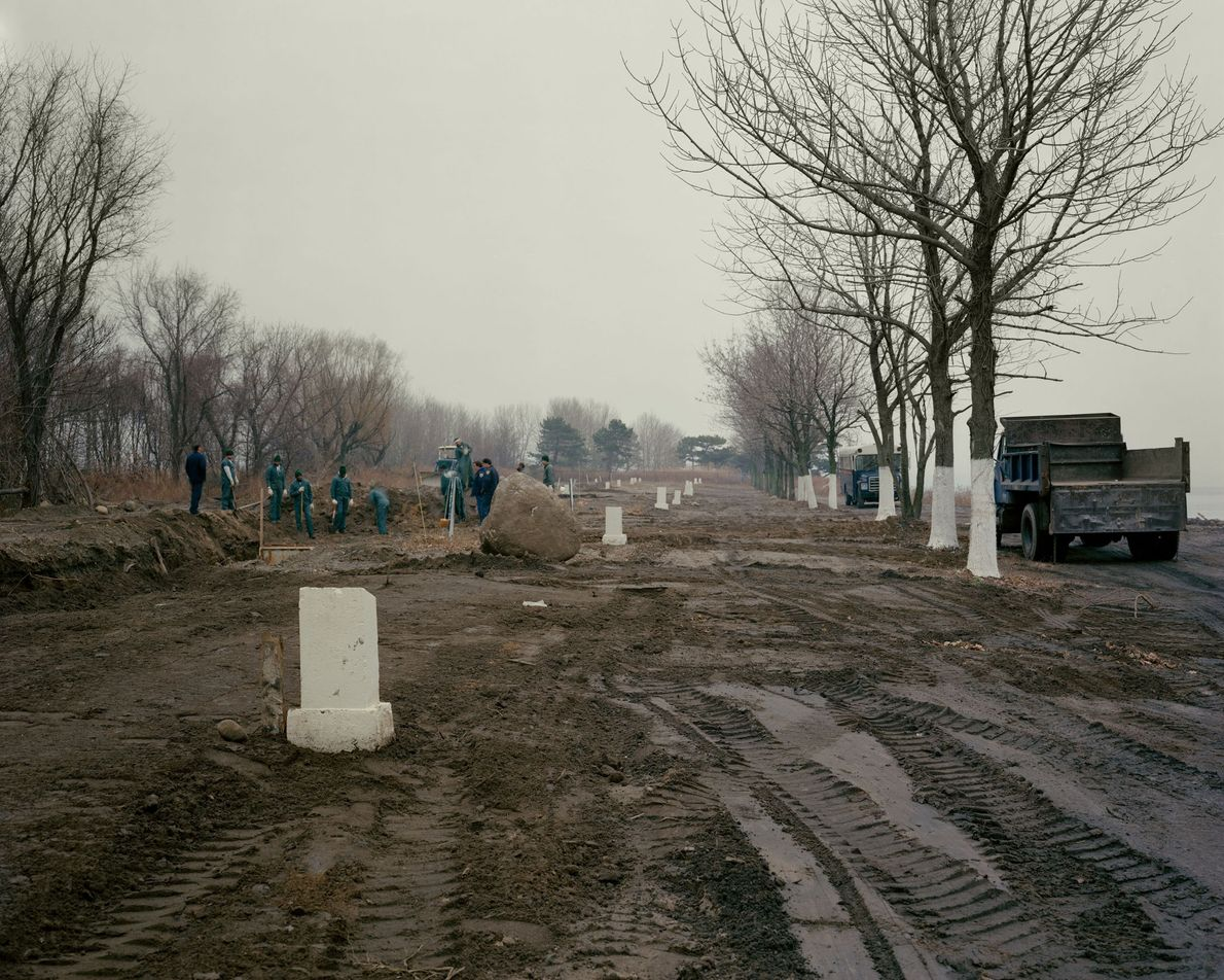 """A burial in December 1991. City Cemetery, also known as """"potter's field,"""" was established in 1869 ..."""