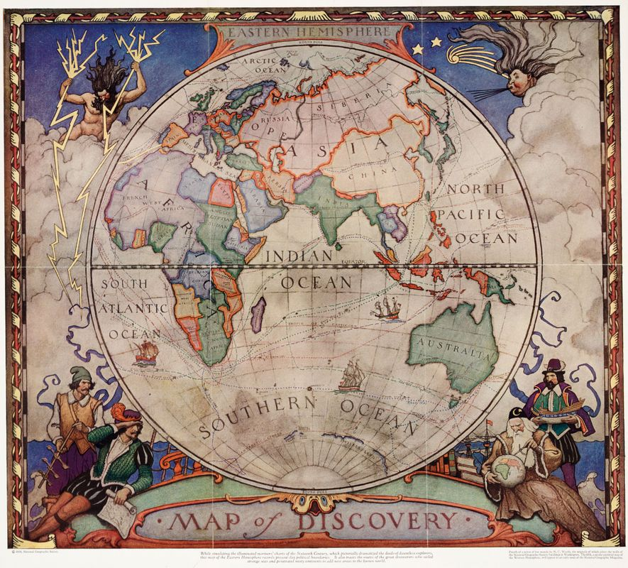 Discover Fascinating Vintage Maps From National Geographic's Archives - 1