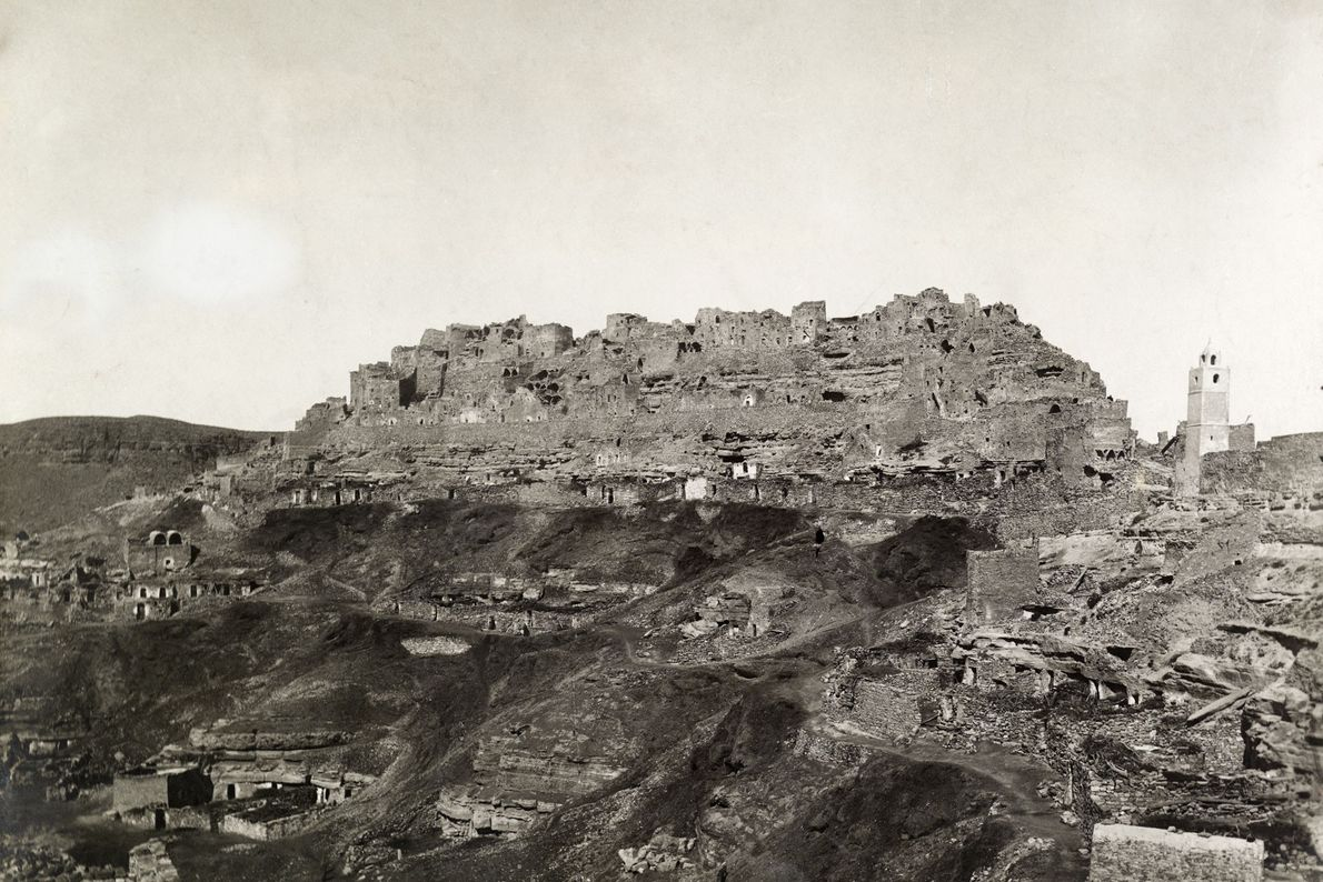 The Berber town of Chenini in Tunisia was built into a hilltop to protect it from ...