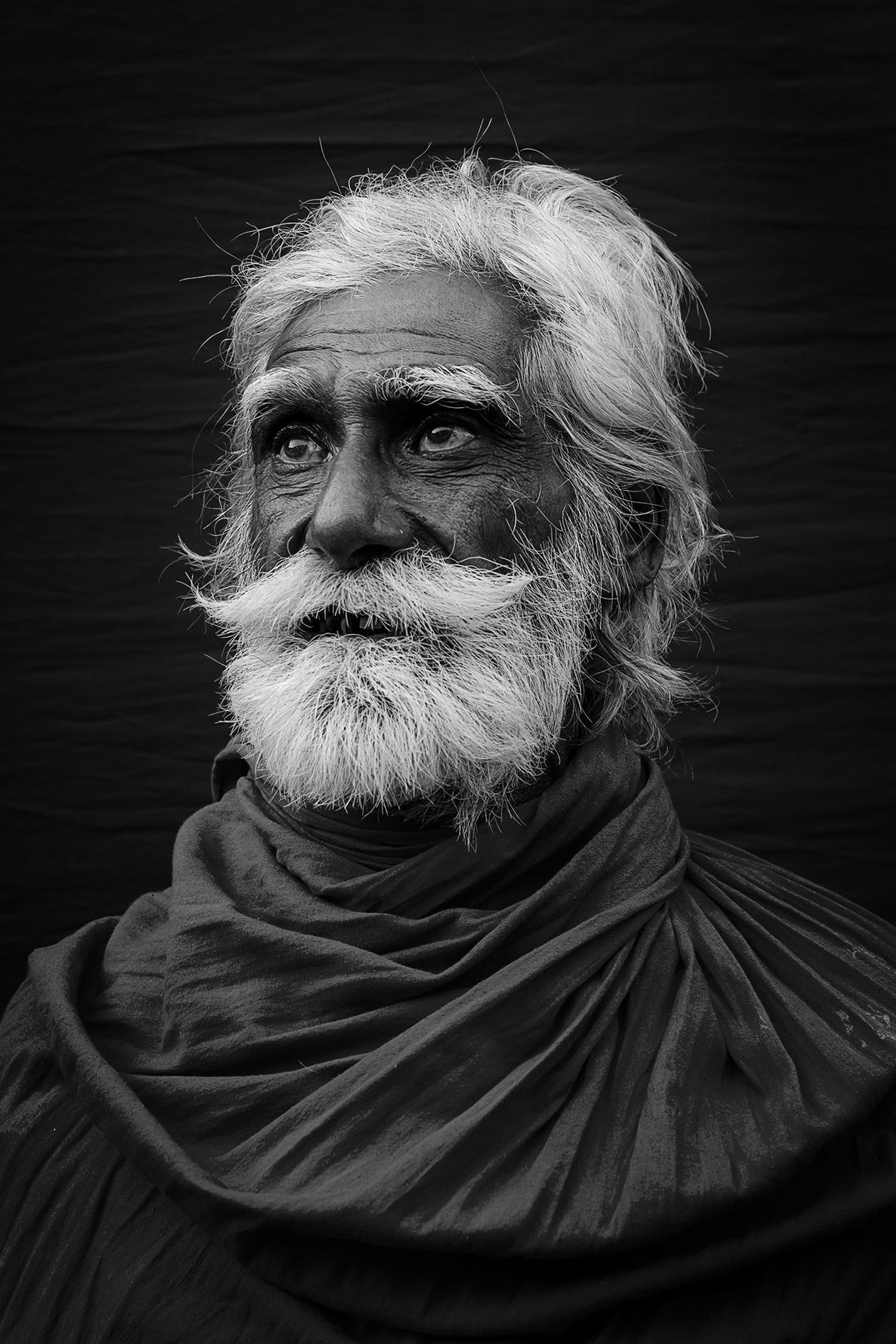 Your Shot photographer Amar Chatterjee made this portrait of a man during the Gangasagar Fair in ...