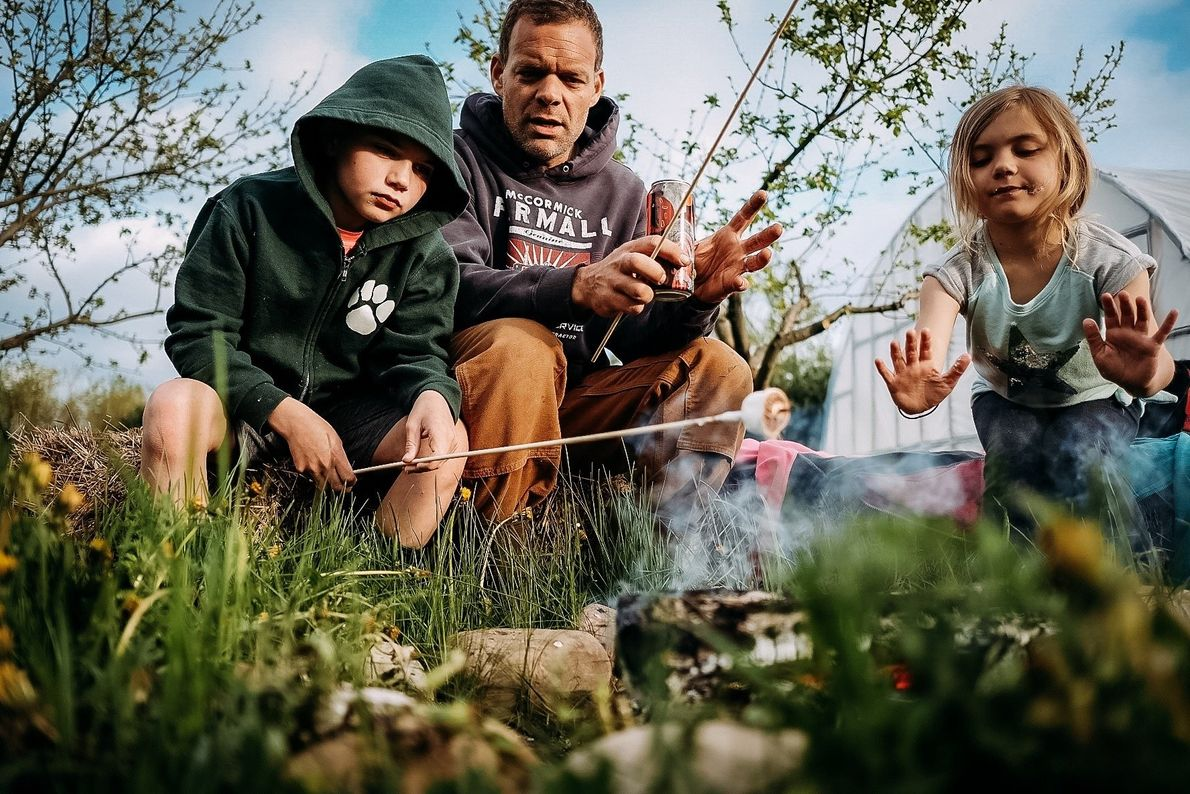 """""""The first campfire of a spring season offers an opportunity to toast marshmallows, tell stories and ..."""