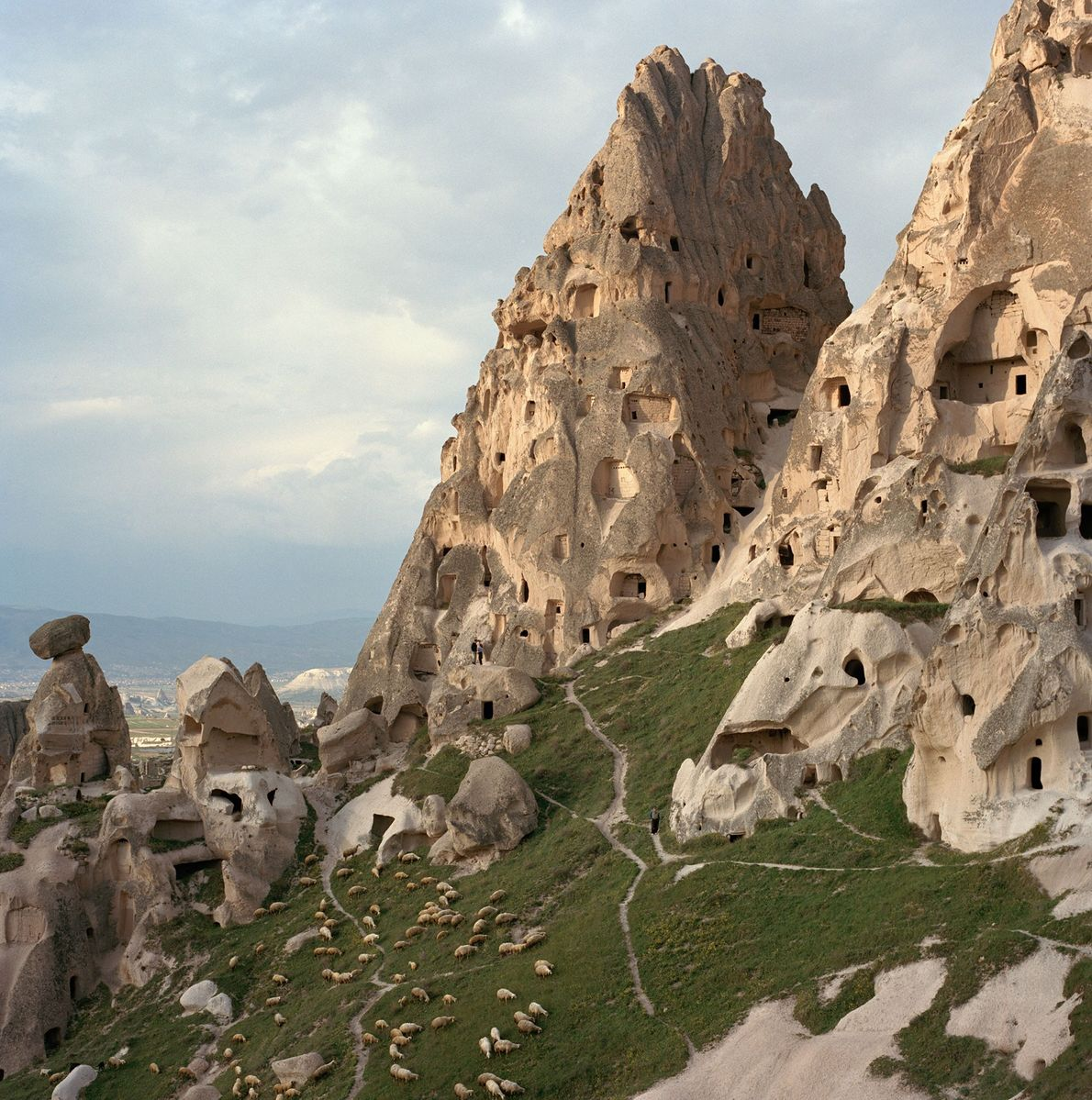 """Stunning rock formations known as """"fairy chimneys"""" are pocked with caves carved in the early centuries ..."""