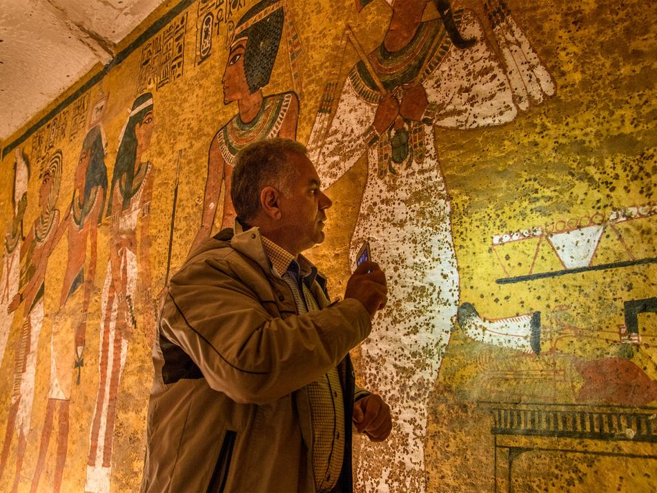 Exclusive Photos: Search Resumes for Hidden Chambers In King Tut's Tomb