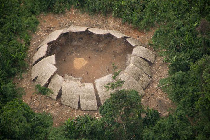 The indigenous inhabitants of Moxihatetema, in the heart of the Yanomami Indigenous Territory, in Roraima state, ...