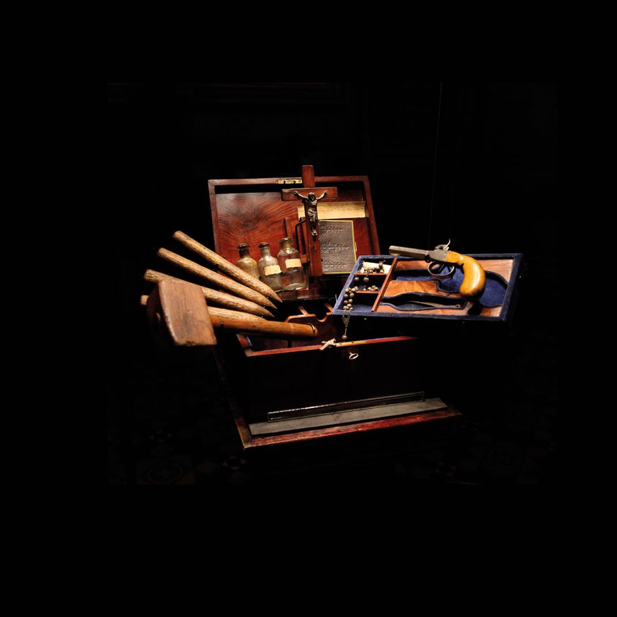 An anti-vampire kit, made up of 19th- and 20th-century items. Royal Armouries Museum, Leeds