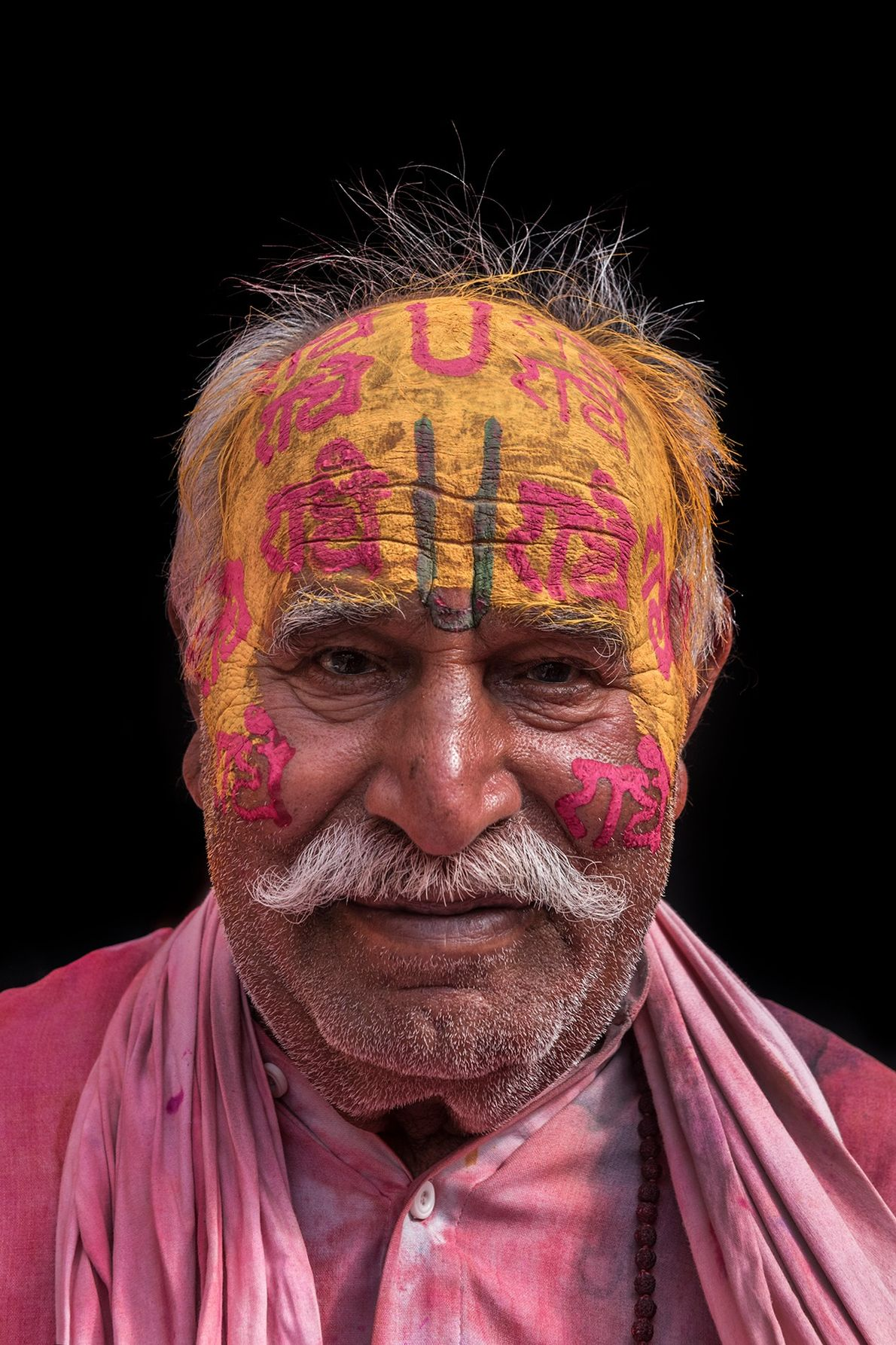 Face painting isn't just for the energetic youth. The most senior man in a family is ...