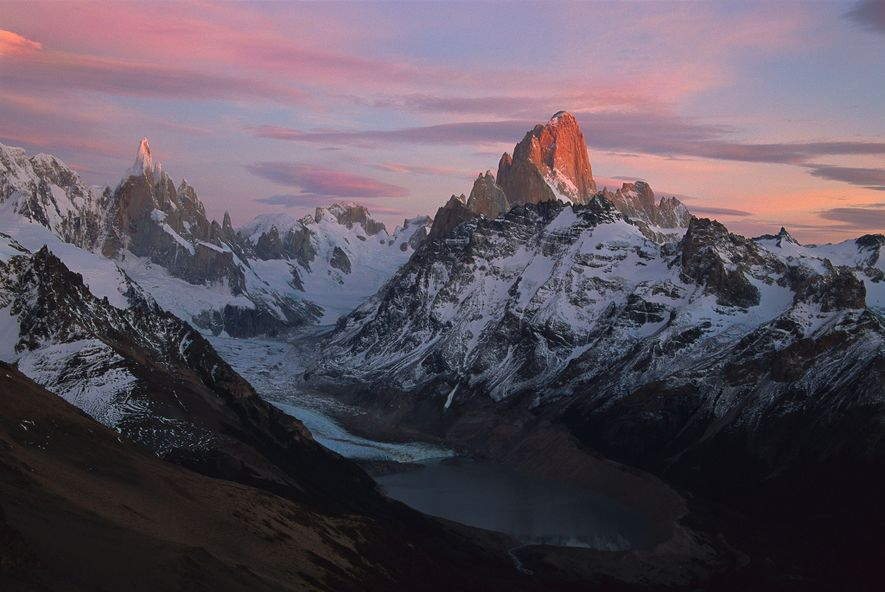 "The Fitzroy Traverse, in Patagonia (centre), was his most challenging ascent, says Honnold, because ""it requires ..."