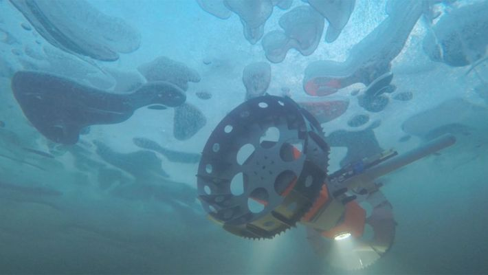 An underwater rover called BRUIE being tested in Antarctica to look for life under the ice. ...