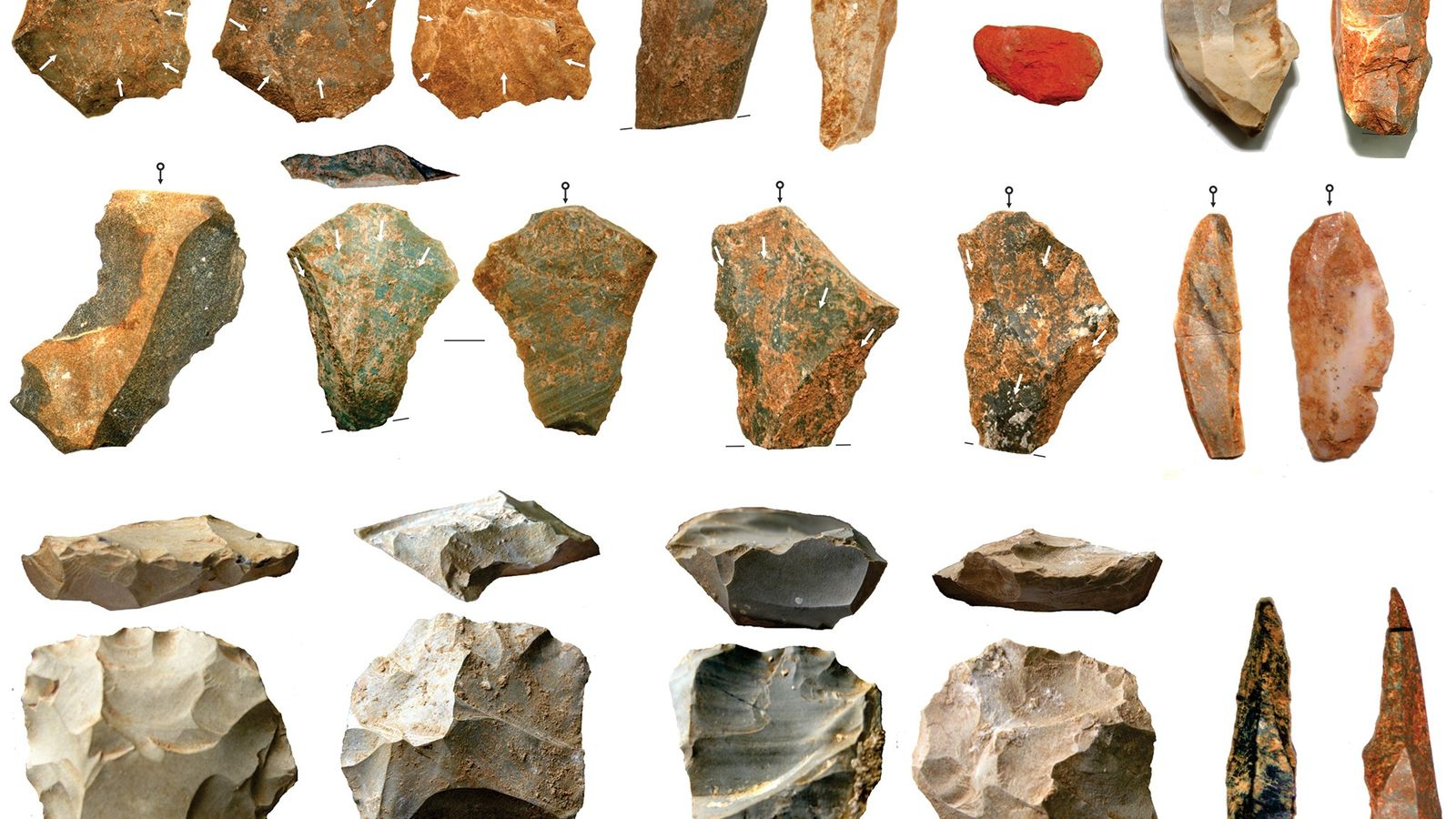 Researchers report a large collection of stone artifacts from archaeological excavations at Dhaba in the Middle ...