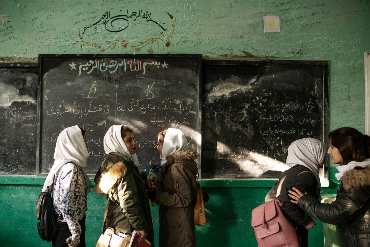 End-of-term exams are over at Kabul's Zarghona High School, one of the country's largest girls' schools, ...