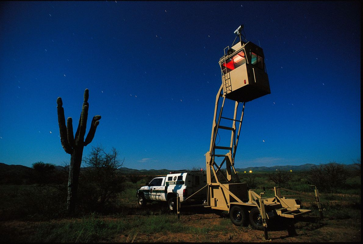 Mobile infrared camera systems plug leaky points along the U.S./Mexican border in Arizona.