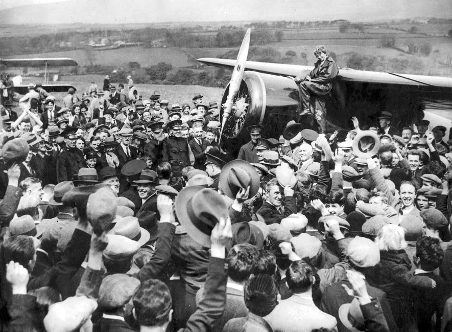 In 1932, Amelia Earhart made a solo flight across the Atlantic, becoming only the second person ...
