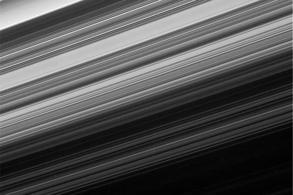 Cassini gets one of the closest, most detailed views of Saturn's rings during the final phase ...