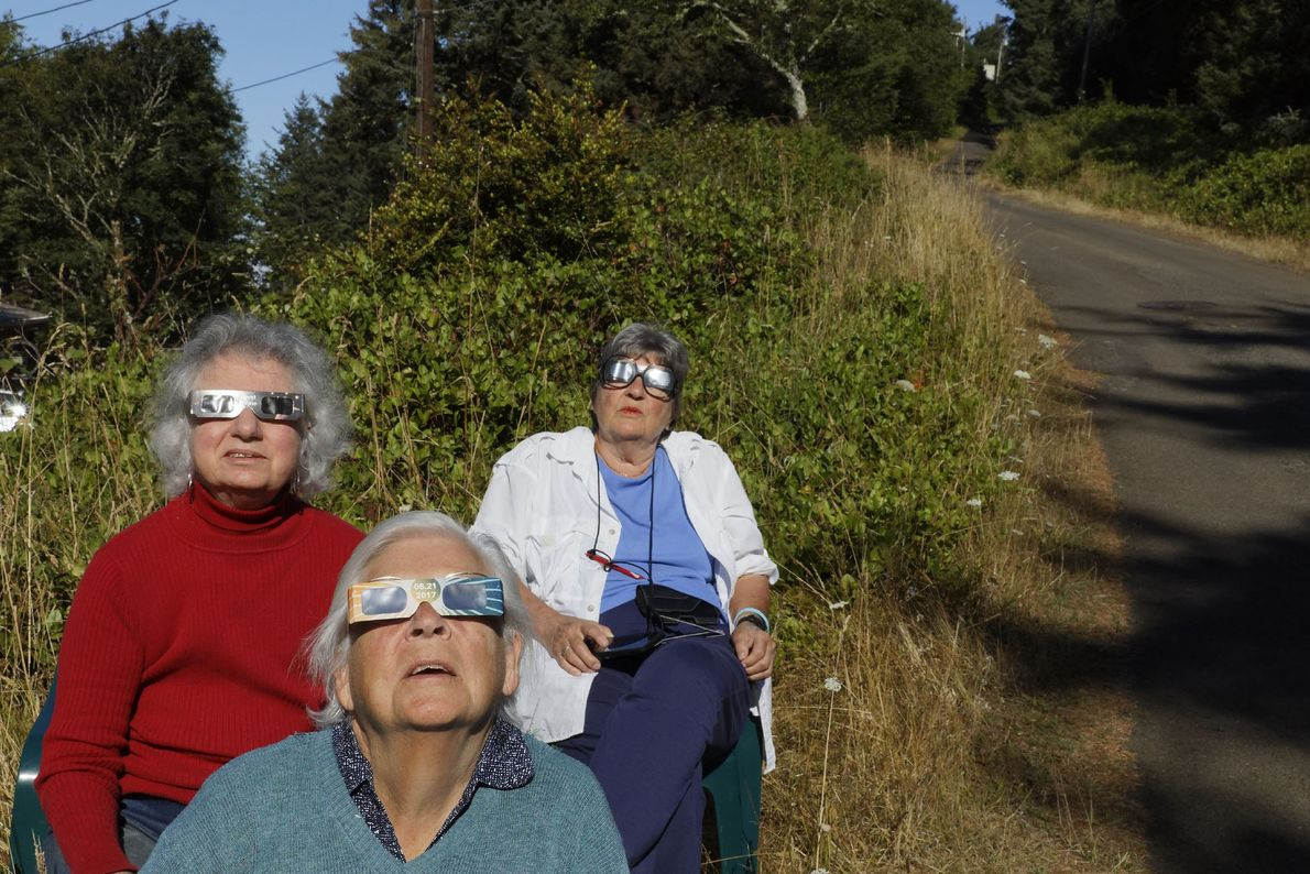The 361 residents of Oceanside, Oregon were among the first to see the eclipse. The last ...
