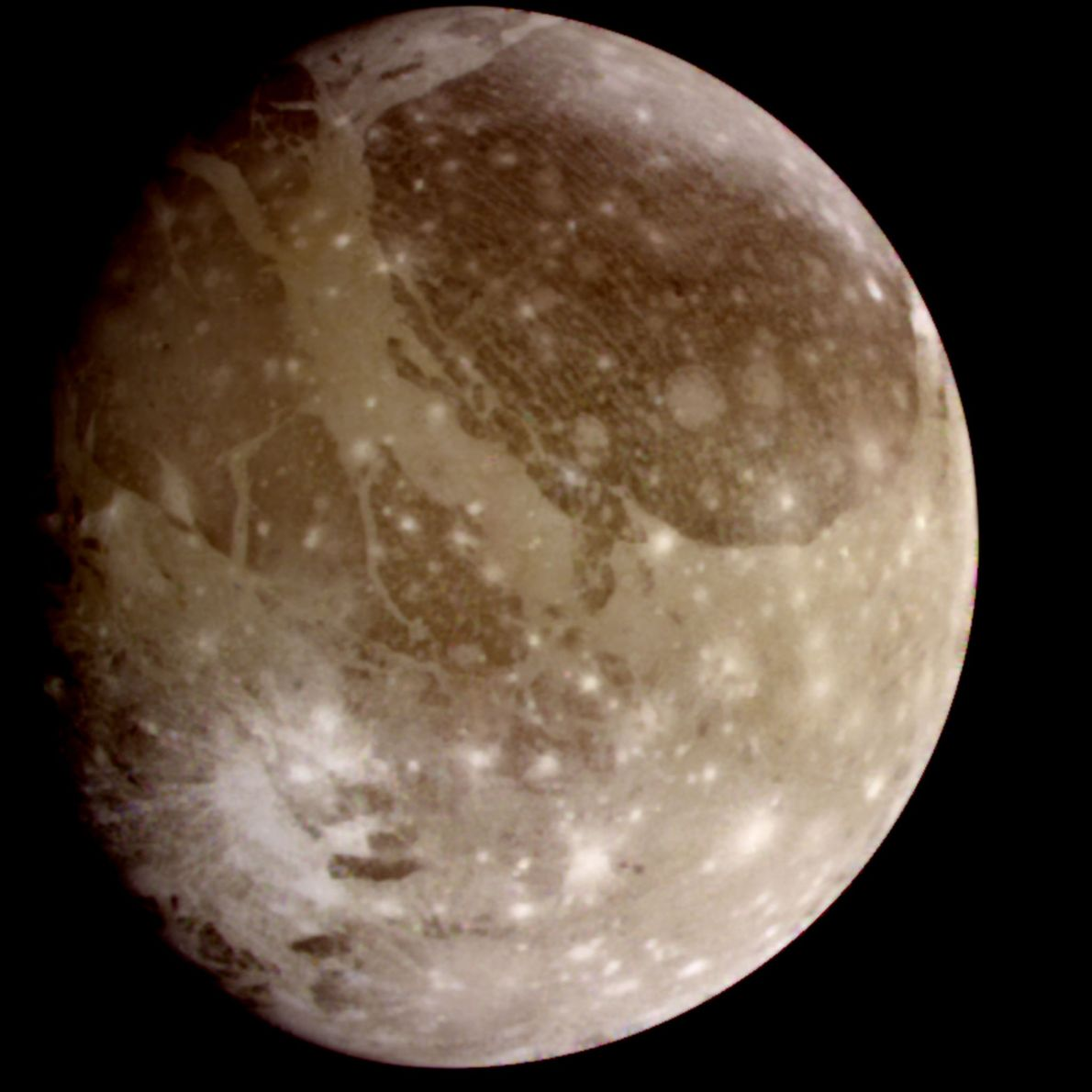 The Galileo spacecraft, which toured the Jupiter system from 1995 to 2003, captured this image of …
