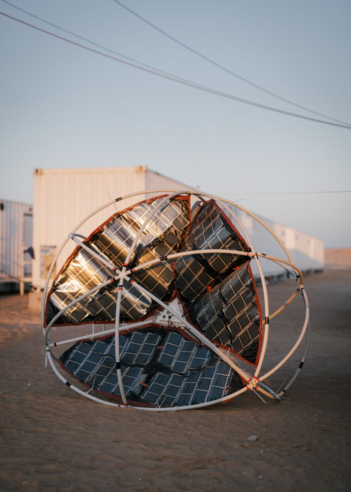 Students at Austria's Sir Karl Popper Schule designed this wind-driven rover concept, named TUMBLEWEED, to roll ...