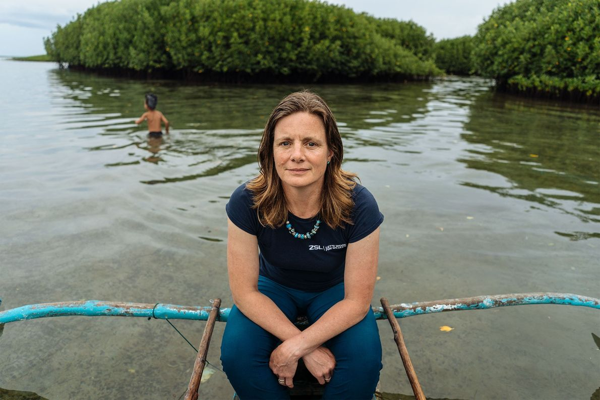 Heather Koldeway, a National Geographic fellow and explorer, works with the Zoological Society of London to ...