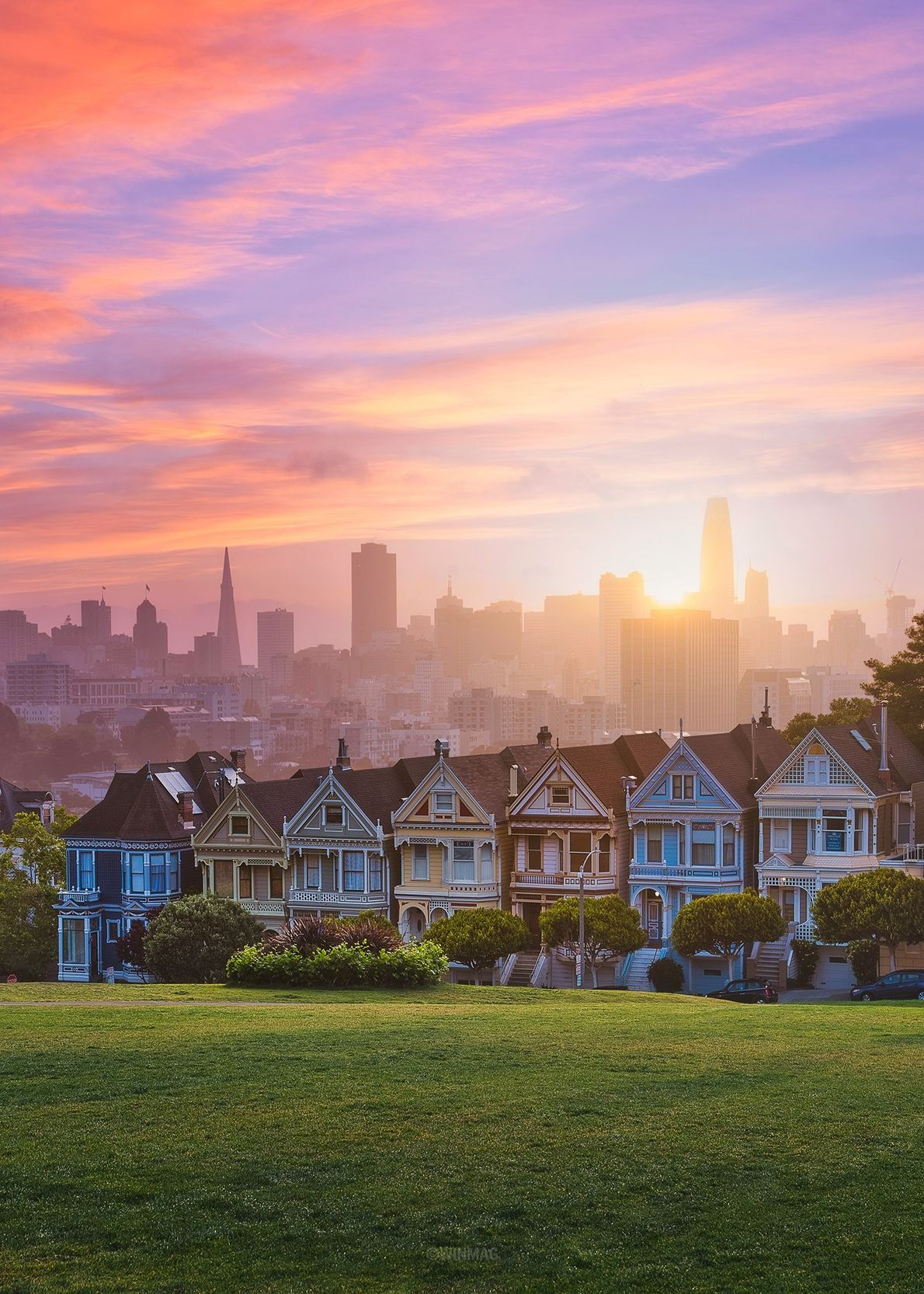 Your Shot photographer Win Magsino made this sunrise image at the Painted Ladies landmark in San ...