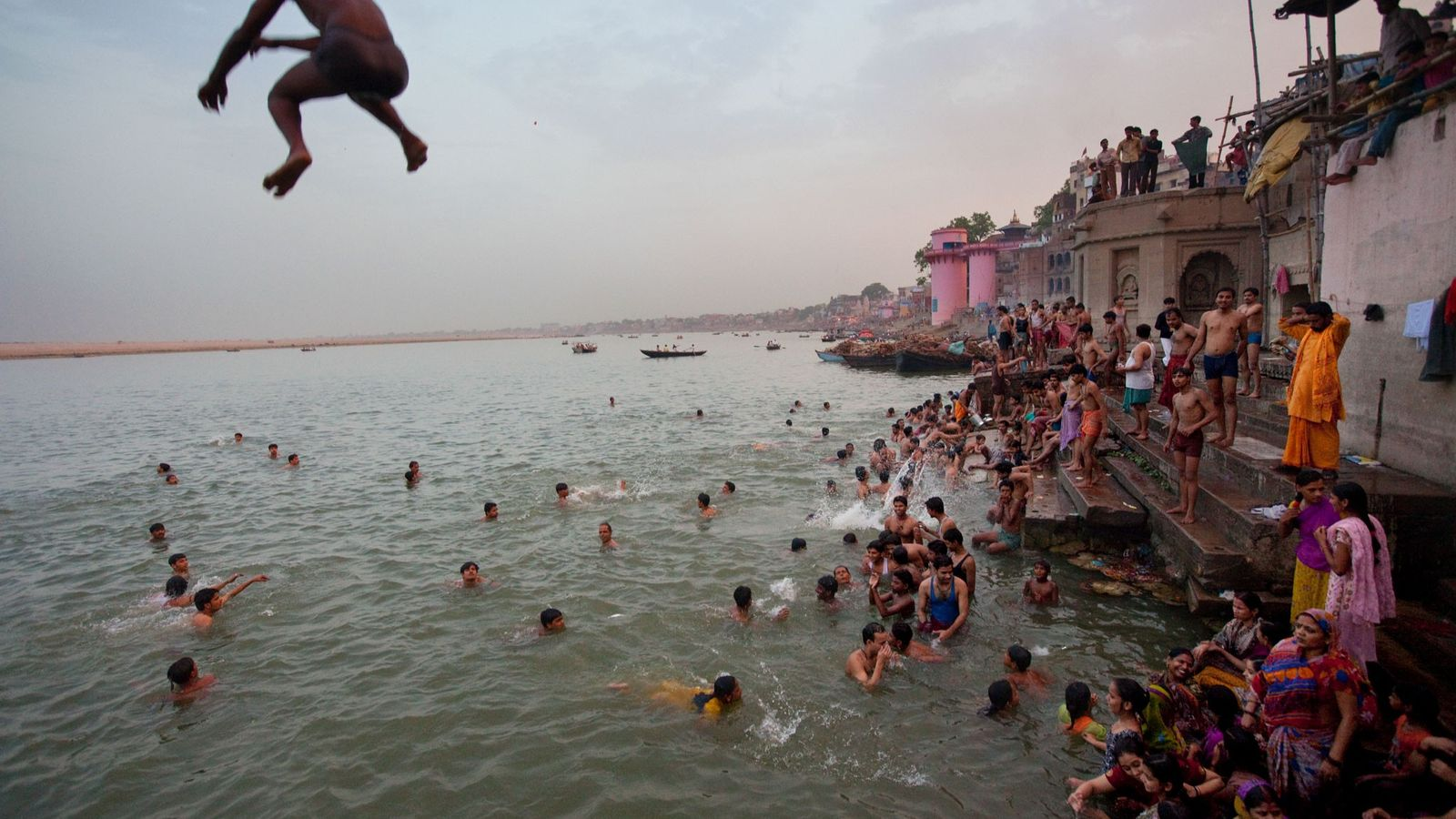 Varanasi sits on the Ganges River and, according to Hindu belief, was founded by the god ...
