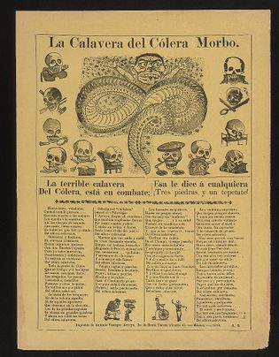 "'The Cavalera of the Morbid Cholera"" was one of Posada's newspaper sketches."