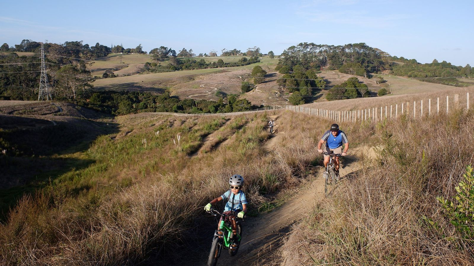 Cyclists take to the trails at Totara Park in South Auckland, New Zealand, after the government ...