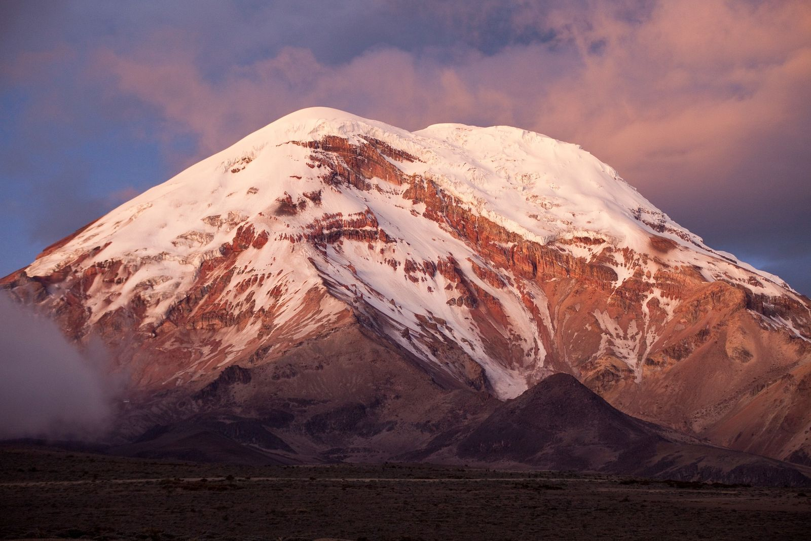 Chimborazo, a dormant volcano located in the Andes, is the highest mountain in Ecuador at 20,561 ...