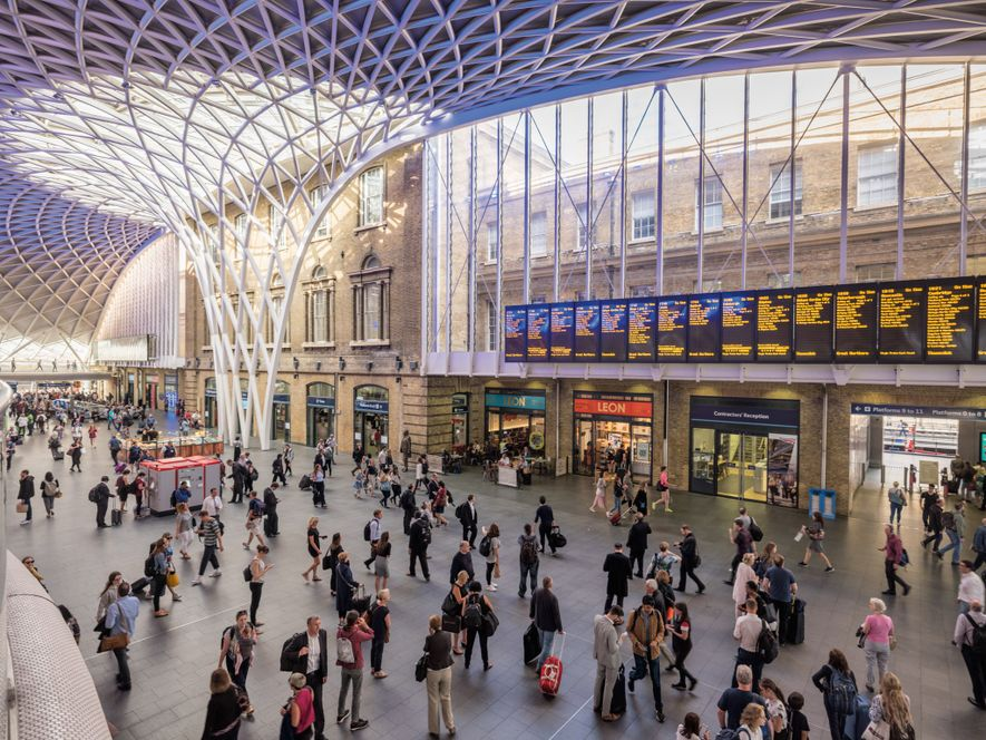 In the transportation hub of King's Cross, the Victorian-era St Pancras International and King's Cross rail ...