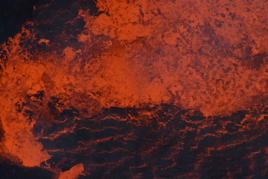 Lava roils in one of Ambrym's lakes before the 2018 eruption. Lava lakes can act like ...