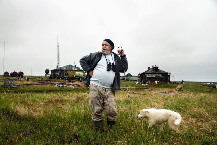 Scientist Sergey Zimov stares out over the Arctic Ocean at a research station 70 miles north ...