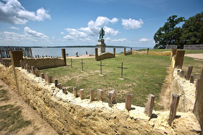 Crosses mark where the four men were buried for more than 400 years, near the altar ...