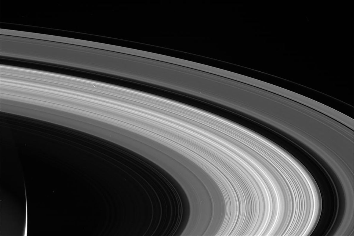 The rings of Saturn lay sprawled against the cosmos in one of the last images from ...