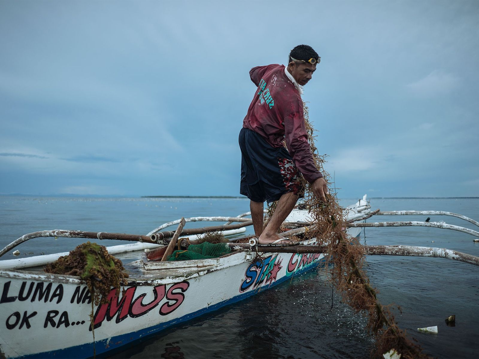 Seaweed is another product harvested locally, which also depends on ocean health.