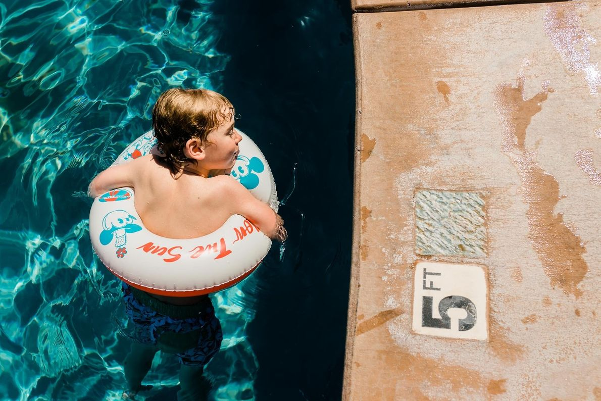 Your Shot photographer Jessie Nelson offered a fresh perspective of the poolside as her six year ...