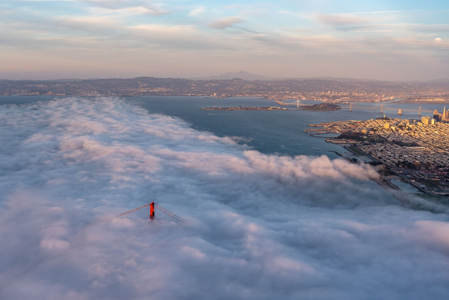 Your Shot photographer Alex Bederov documented this scene while circling San Francisco at 2000 feet in ...