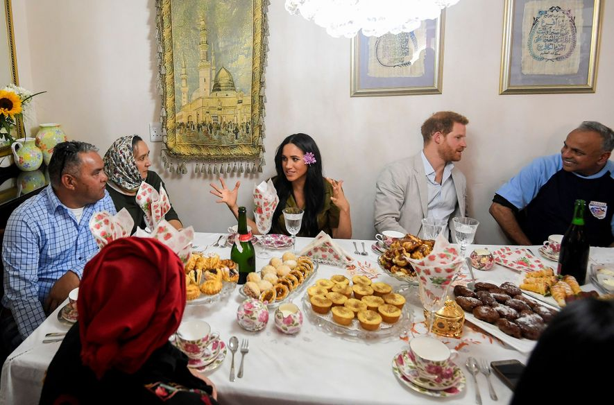 The Duke and Duchess of Sussex had tea and pastries with Bo-Kaap residents in the home ...