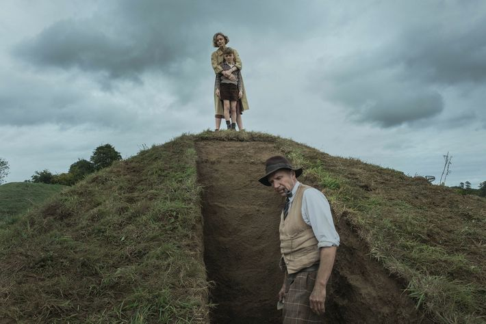 The film The Dig retells the story of the Sutton Hoo excavation from the perspectives of ...