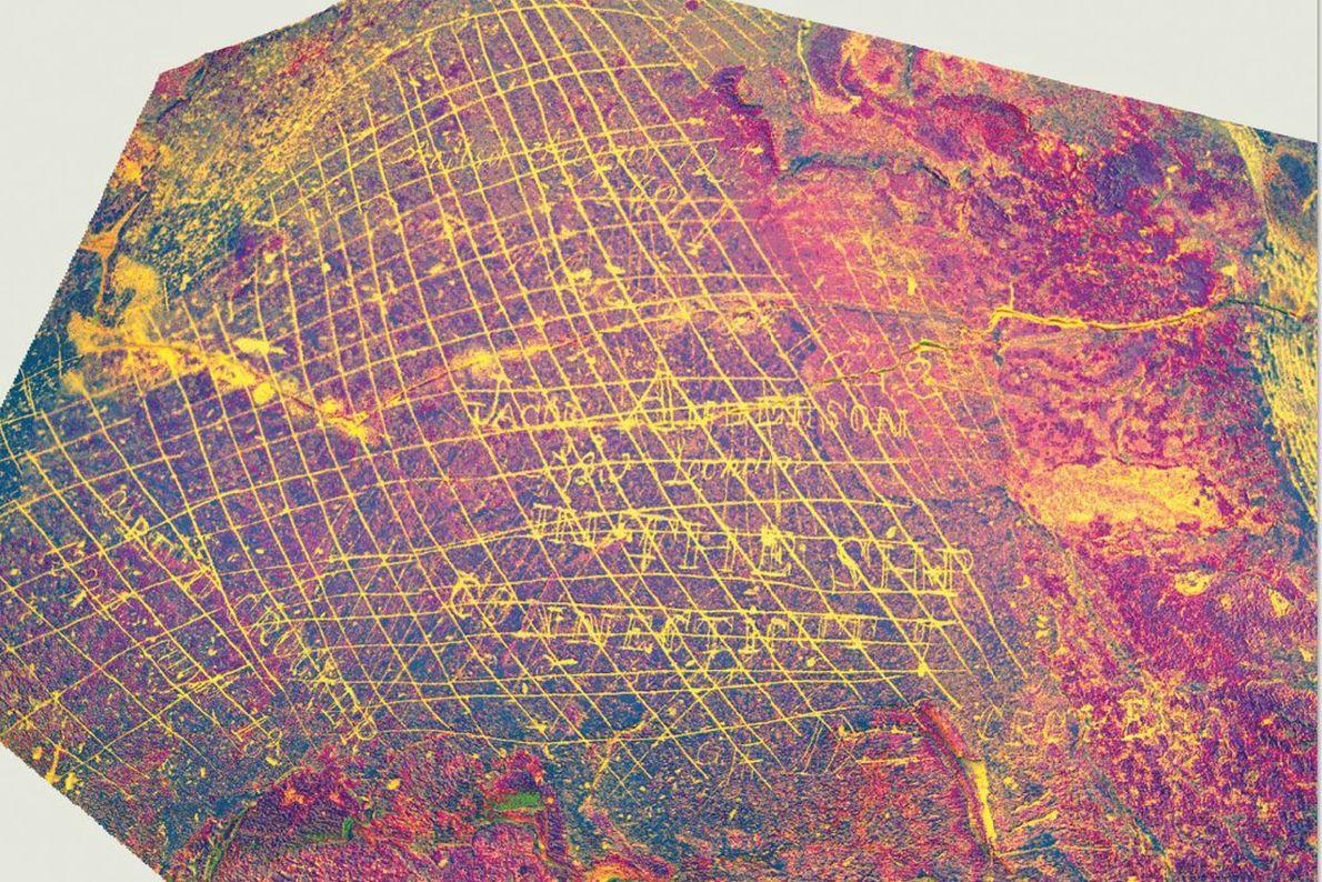 Technological enhancements reveal details in the Connecticut rock inscriptions.