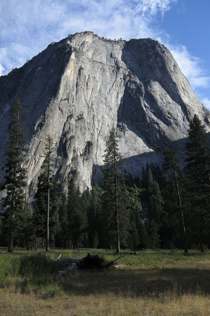 """El Cap,"" in Yosemite, is a favorite challenge for free solo climbers like Honnold, who once ..."